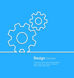 gear design element vector image