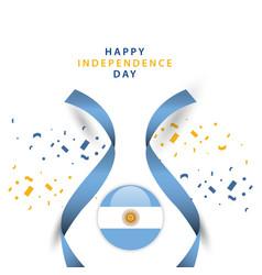 Happy argentina independent day template design vector
