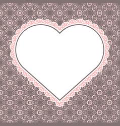 heart shaped frame for valentine card vector image