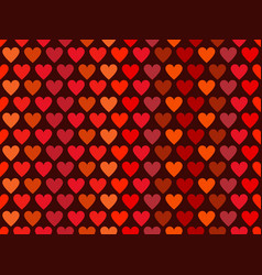 hearts seamless pattern in red tones happy vector image vector image