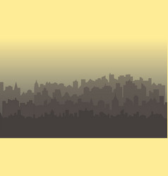 horizontal city landscape vector image