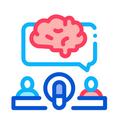 human microphone brain icon outline vector image