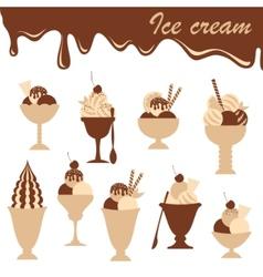 Icecreams mix vector