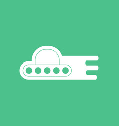 Icon flying saucer icon vector