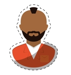 Jail prisoner with dark skin icon image vector