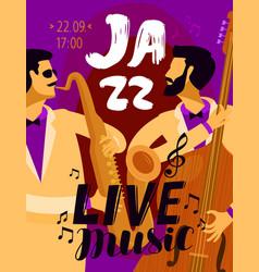 Jazz placard music festival live music concept vector