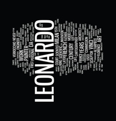 Life of leonardo da vinci text background word vector