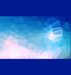 light blue polygonal which consist of triangles vector image