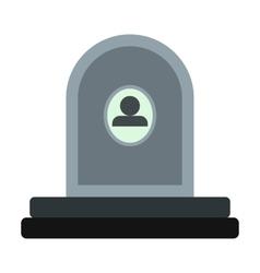 Memorial icon flat vector