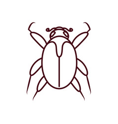 Mite insect icon line style vector