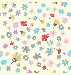 modern floral seamless pattern vector image