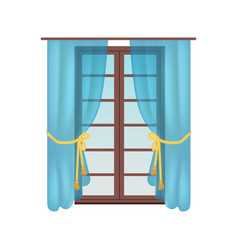 Modern wooden window colorful vector