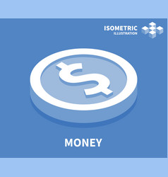 money icon isometric template for web design vector image