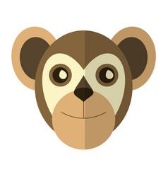monkey head cartoon isolated vector image