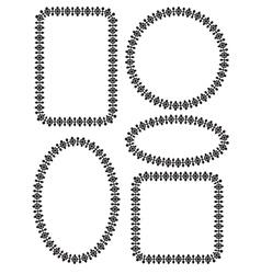 moroccan frames vector image