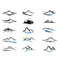 Mountains icons cartoon for you design vector