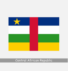 national flag central african republic car vector image