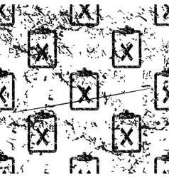 Negative result pattern grunge monochrome vector
