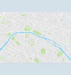 Paris colored map vector