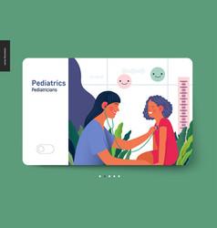Pediatrics - medical insurance template vector