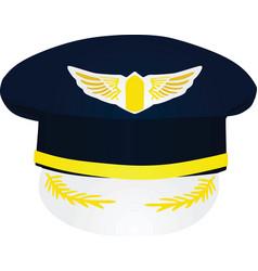 Pilot hat vector