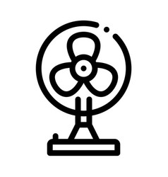 Portable air fan cooling equipment icon vector