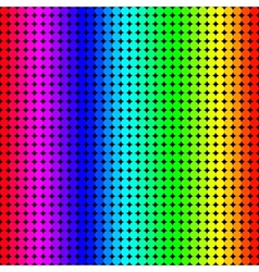 Rainbow background of colored circles vector
