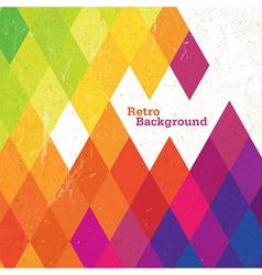 retro rhombus background vector image