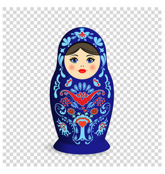 Russian nesting doll with ornamental pattern on vector