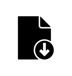 save file download icon data vector image