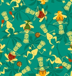 seamless pattern tribal musicians vector image