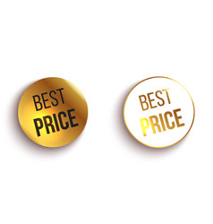 Set of color best price buttons or badges vector