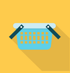 shopping basket icon set of great flat icons vector image
