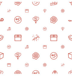 surprise icons pattern seamless white background vector image