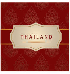 Thailand white frame red background image vector