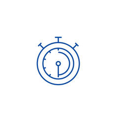 timerstopwatchclock line icon concept timer vector image