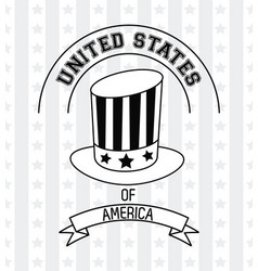 united states of america emblem in black and white vector image