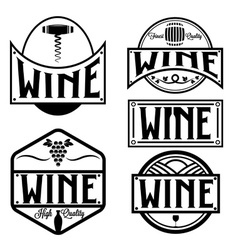 vintage labels and design elements of wine vector image