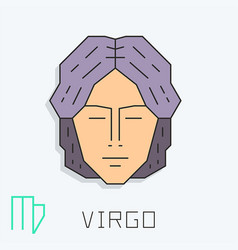 Virgo sign vector