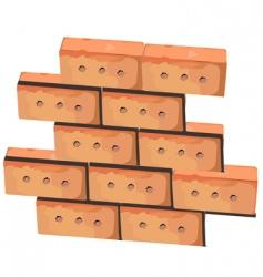 Wall from bricks vector