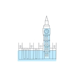 Westminster Abbey Building In London vector