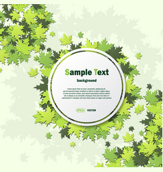 white frame with green leaves vector image