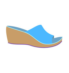 Woman slippers icon flat style vector
