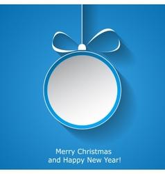 Xmas greeting card vector image