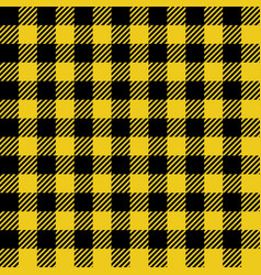 Yellow lumberjack seamless pattern vector