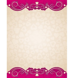 beige background with valentines hearts vector image vector image