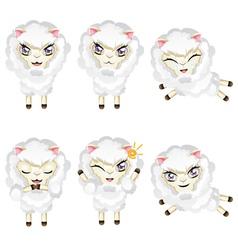 Cute Chibi Sheep3 vector image vector image