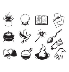 different symbols of magicians alchemists and vector image vector image