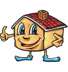 house cartoon i like vector image