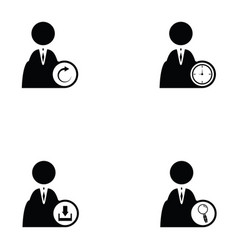 business man icon set vector image vector image